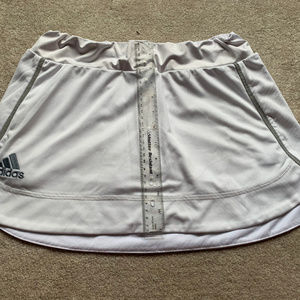 White Medium Adidas Golf Skirt